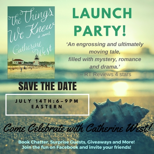 The Things We Knew Launch Party!-save the date